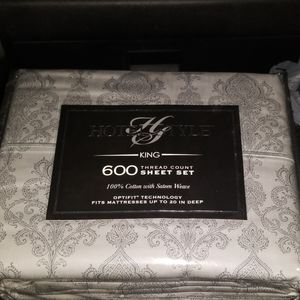 HOTEL STYLE (King) 600 thread count sheet set